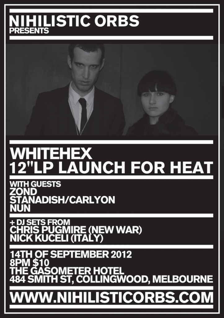 White Hex Detail Basic Poster