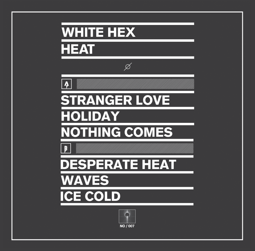 White Hex 'HEAT' 12 inch Back Cover